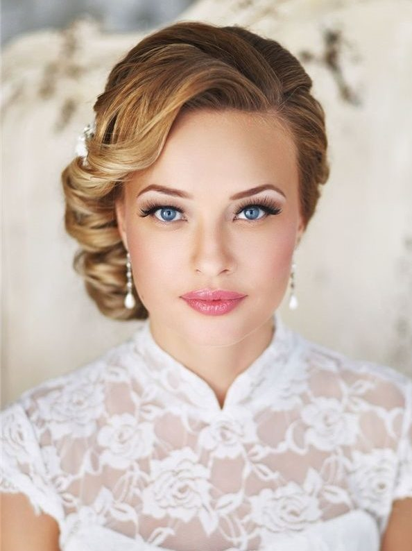 curl wedding hairstyle for short hair