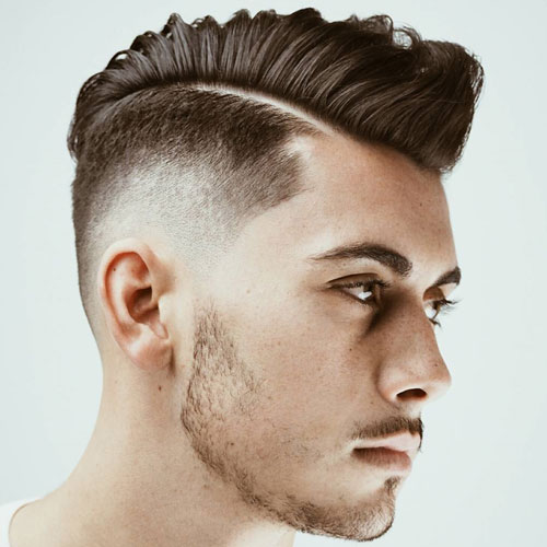 Short Beard with bald fade hairstyle