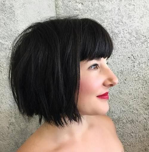 women Short Bangs Haircut